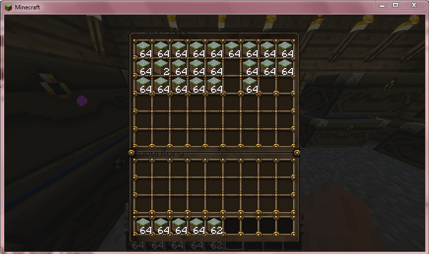 how to put whole inventory in chest minecraft