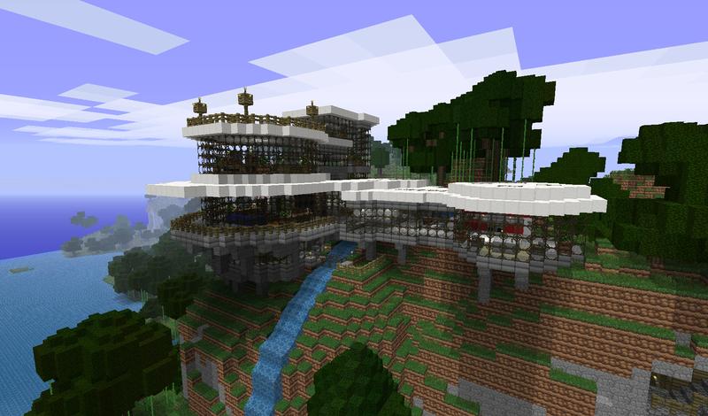 minecraft modern mountain house 2 inspiration w keralis youtube ... - ^