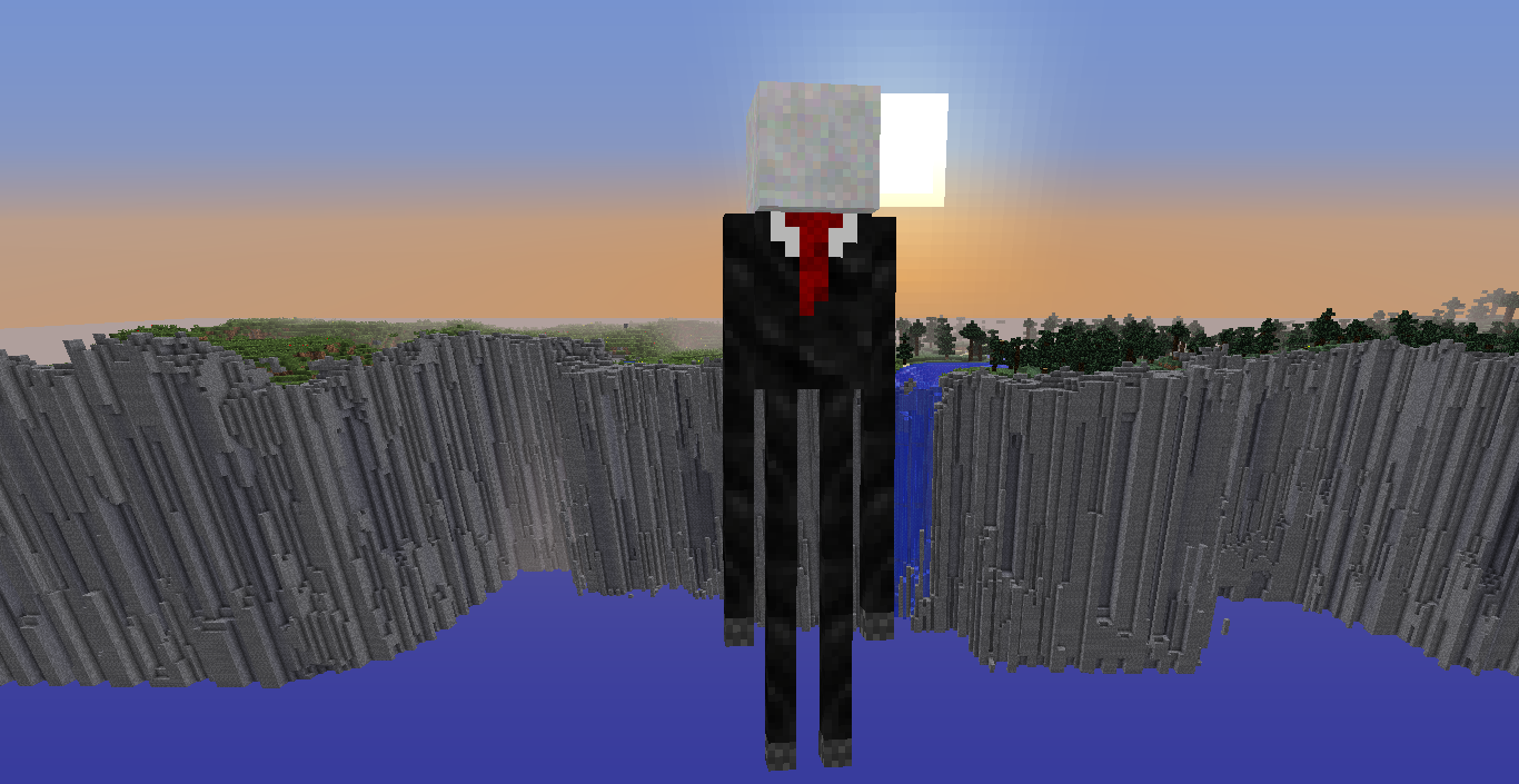 my slenderman skin for an enderman skins mapping and