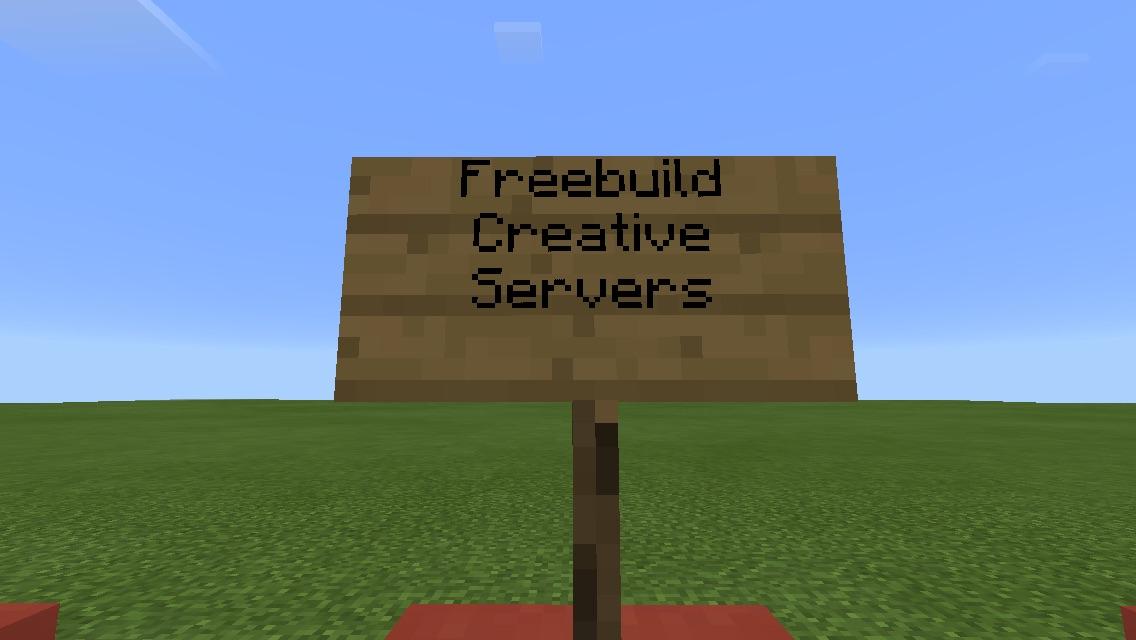 Freebuild Creative Server MCPE: Servers MCPE: Multiplayer Minecraft: Pocket Edition