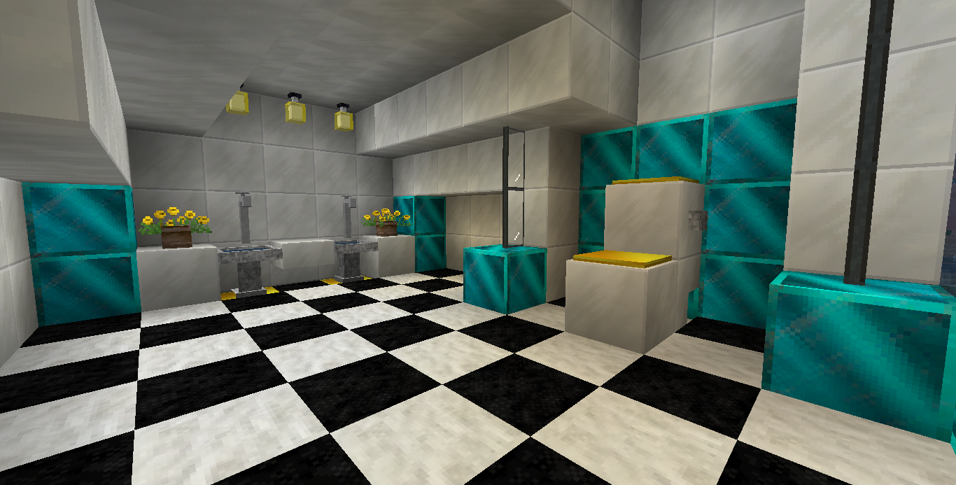 Bathroom designs creations creative mode minecraft for Bathroom designs minecraft