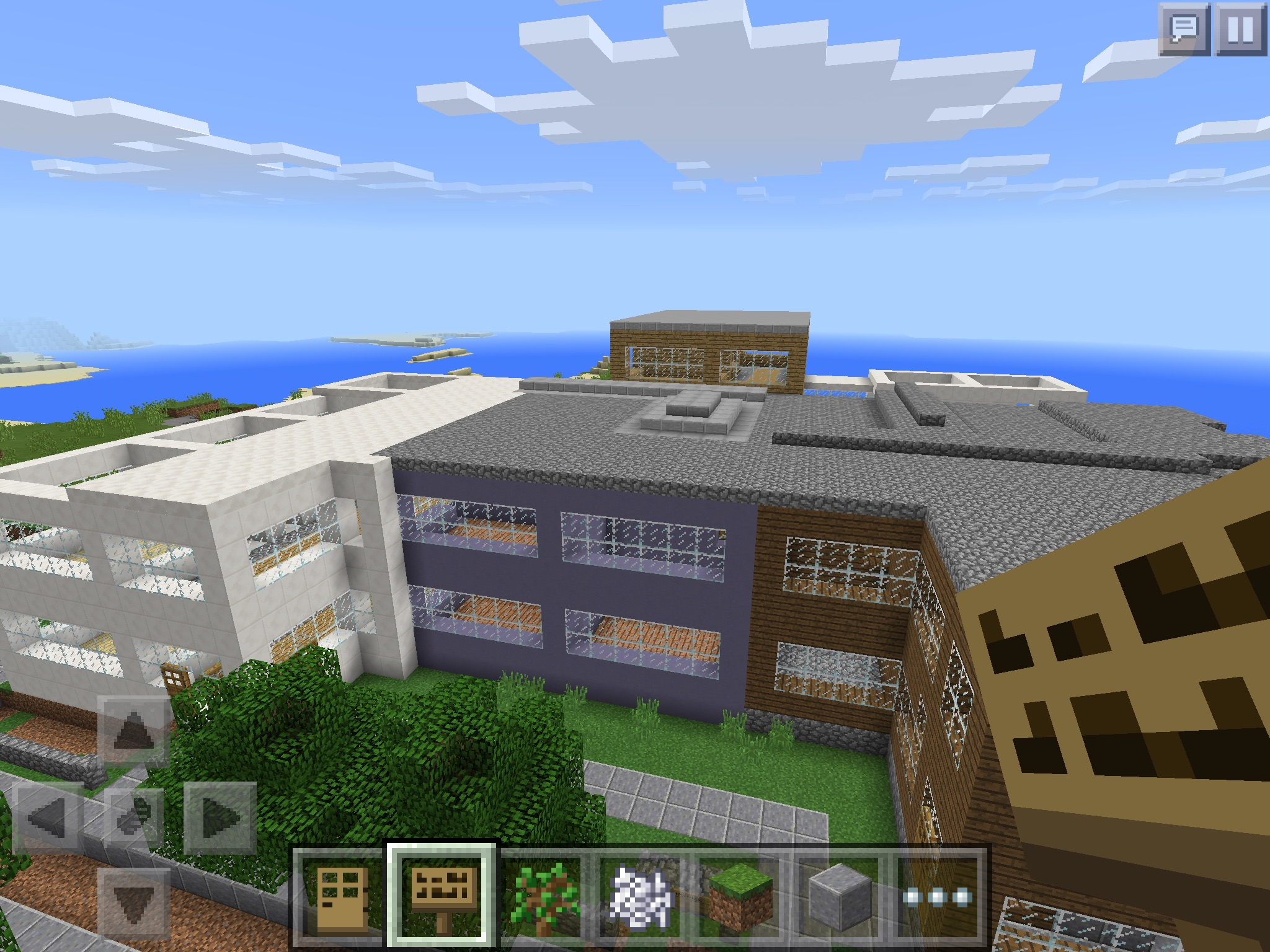 how to build a school in minecraft pe
