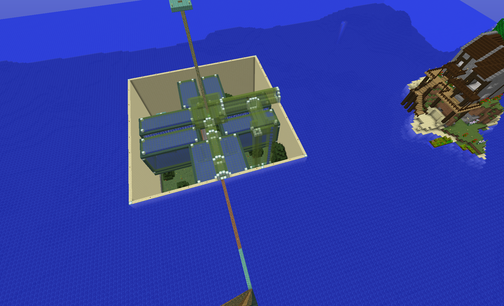 Draining An Ocean Monument In Survival Wip Survival