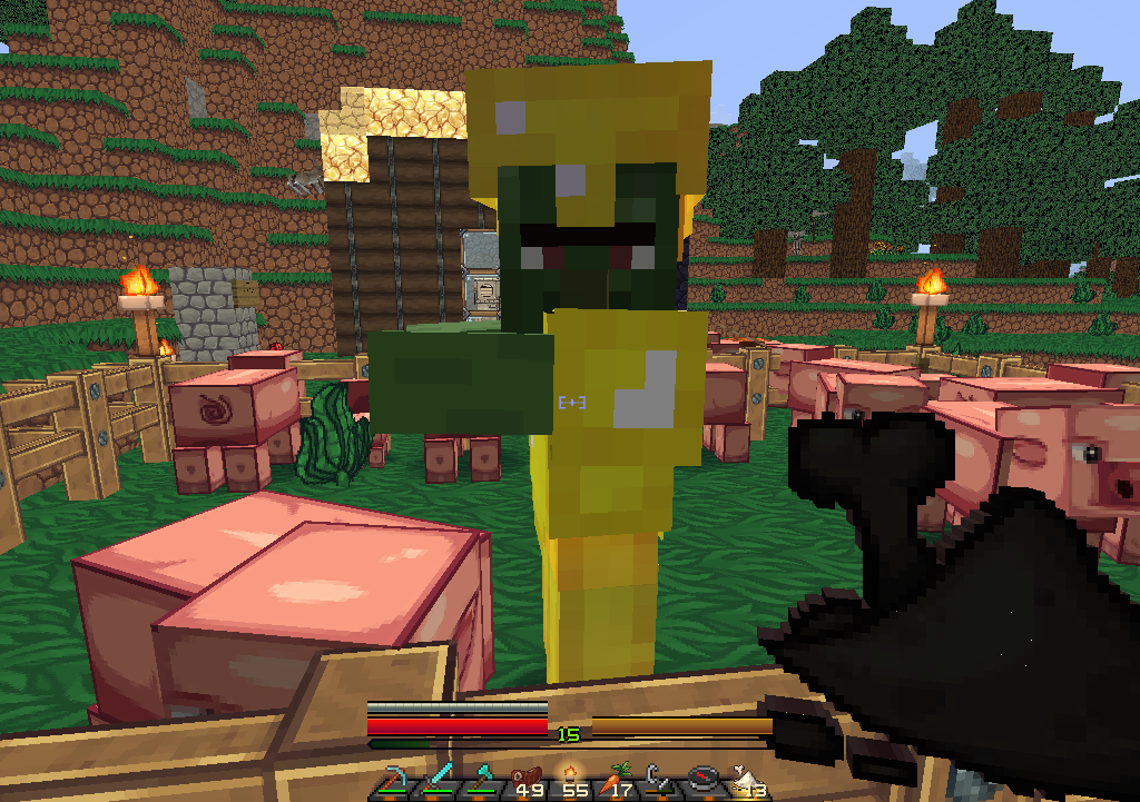 Zombie villager covered in gold armor in my pig farm survival 2015 06 29112736 sciox Images