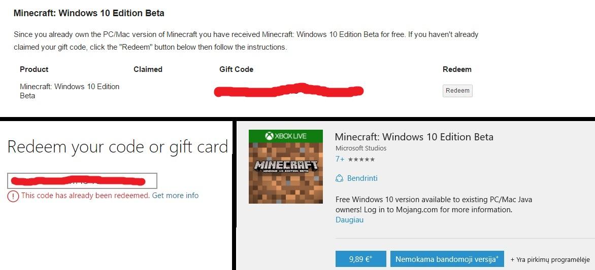 Minecraft gift Codes generator