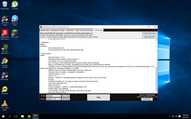 Minecraft Drivers Windows 10