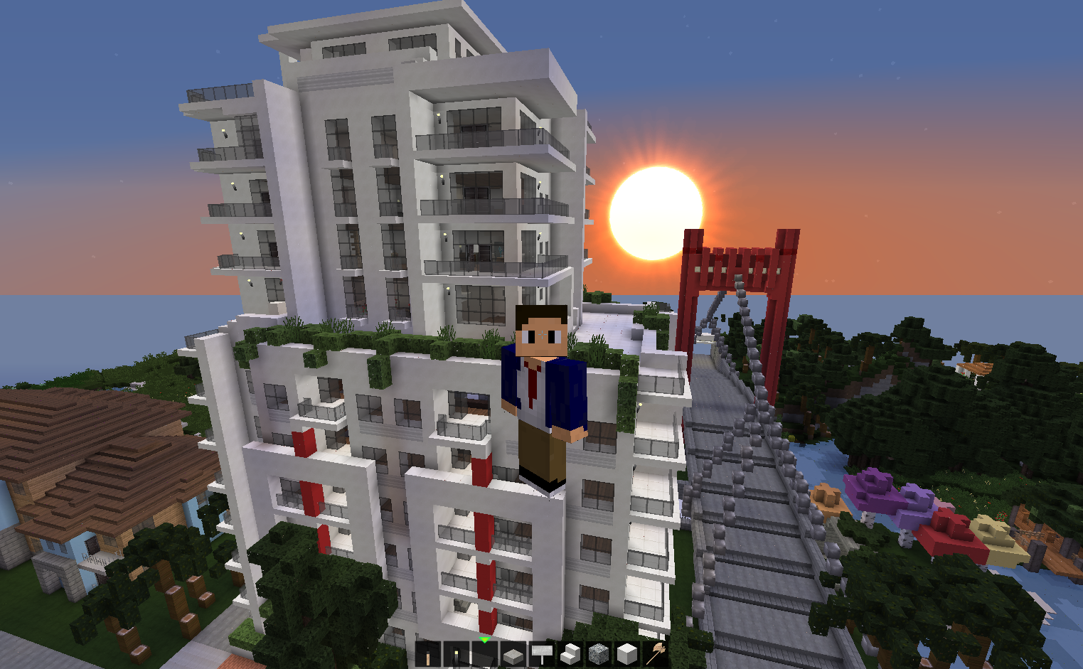 Modern Apartment Building On The Beach Creative Mode Minecraft