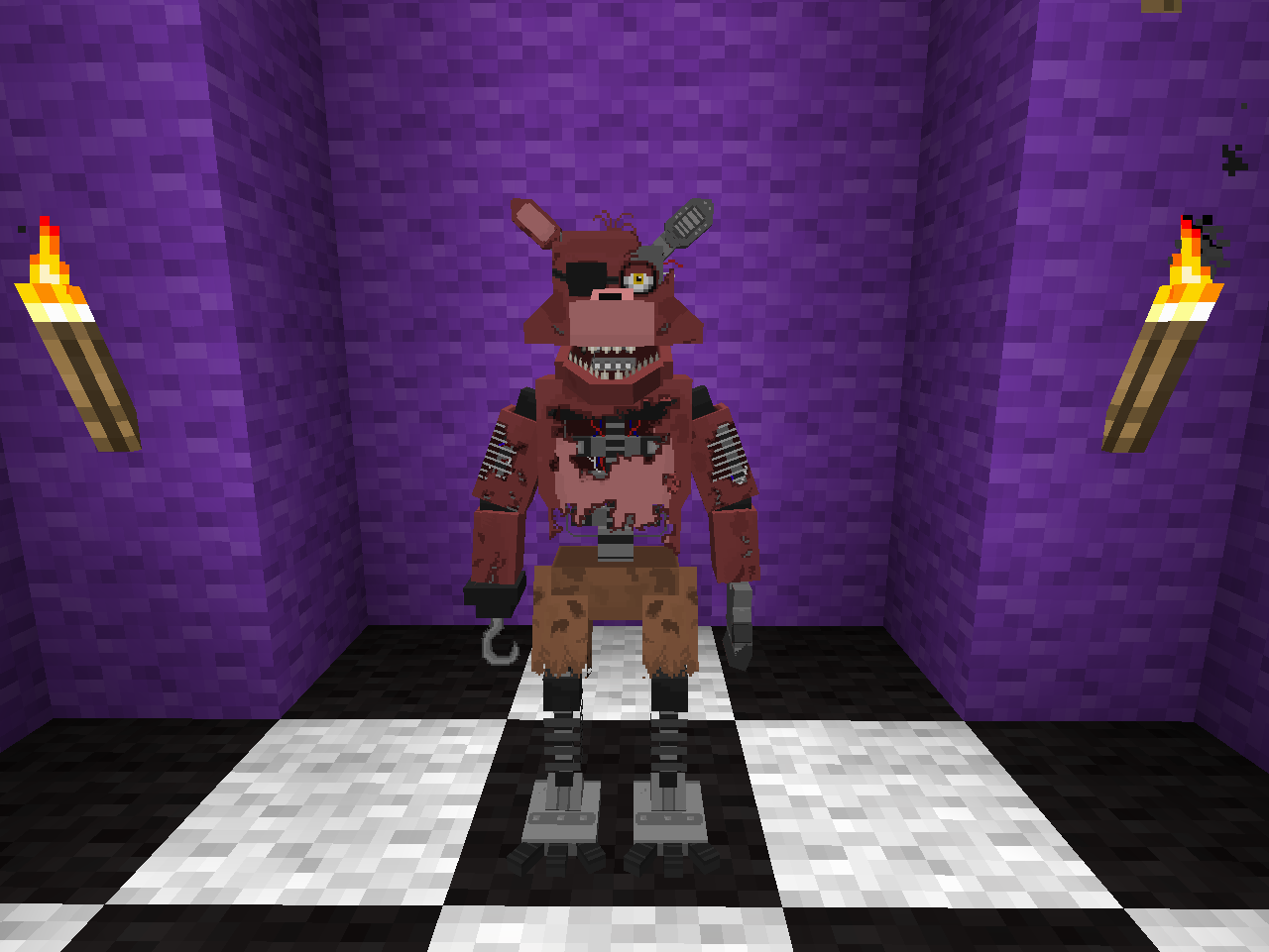 how to build fnaf 2 in minecraft
