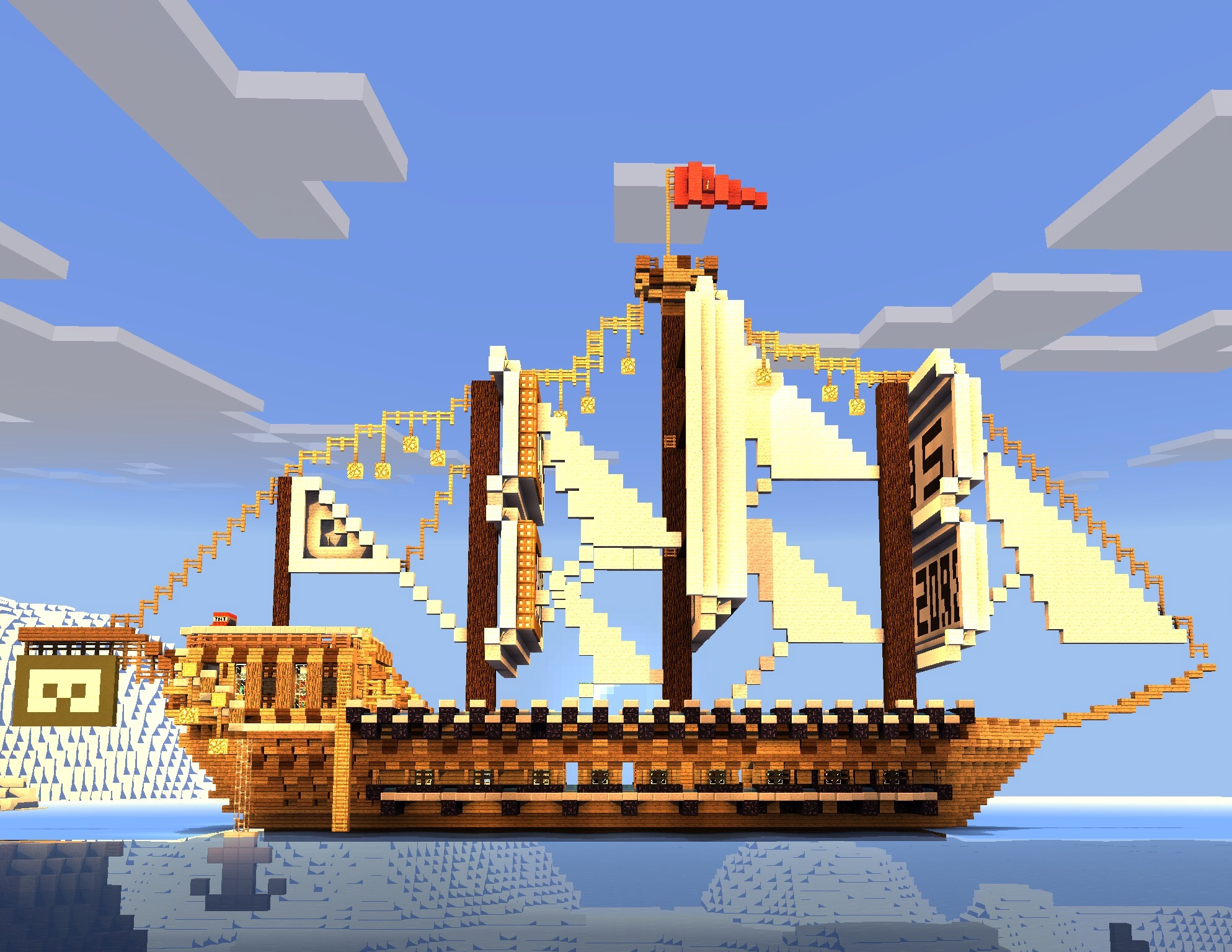0 11 1 mcpe giant pirate ship krusty bucket v2 ios and android