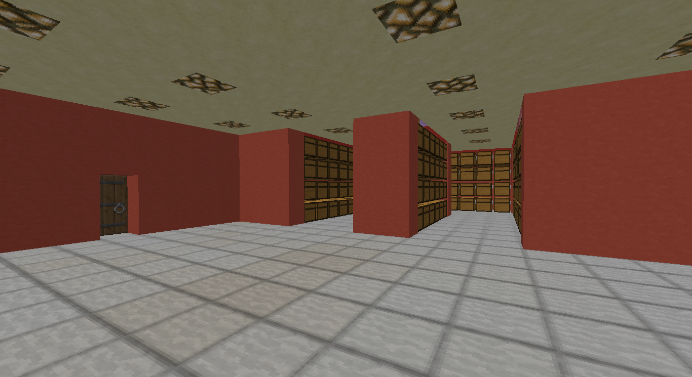 Storage room design or schematics survival mode for Room design minecraft