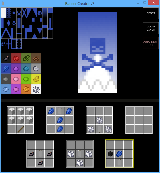 1 8 Snapshot War Banner Creator Minecraft Tools