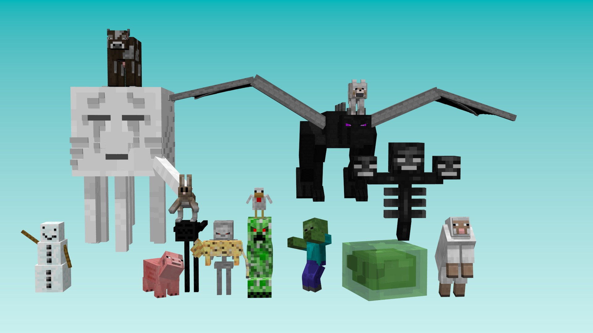 minecraft wallpaper mobs | Minecraft Seeds PC | Xbox | PE | Ps4