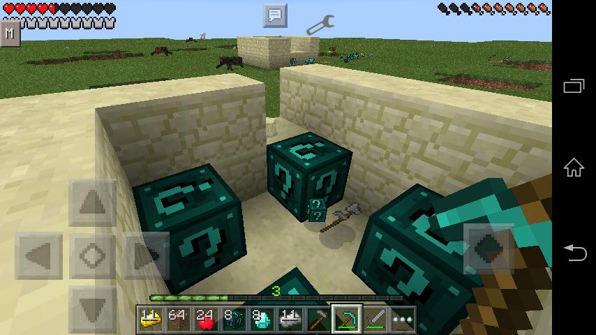 Lucky block mod minecraft pe