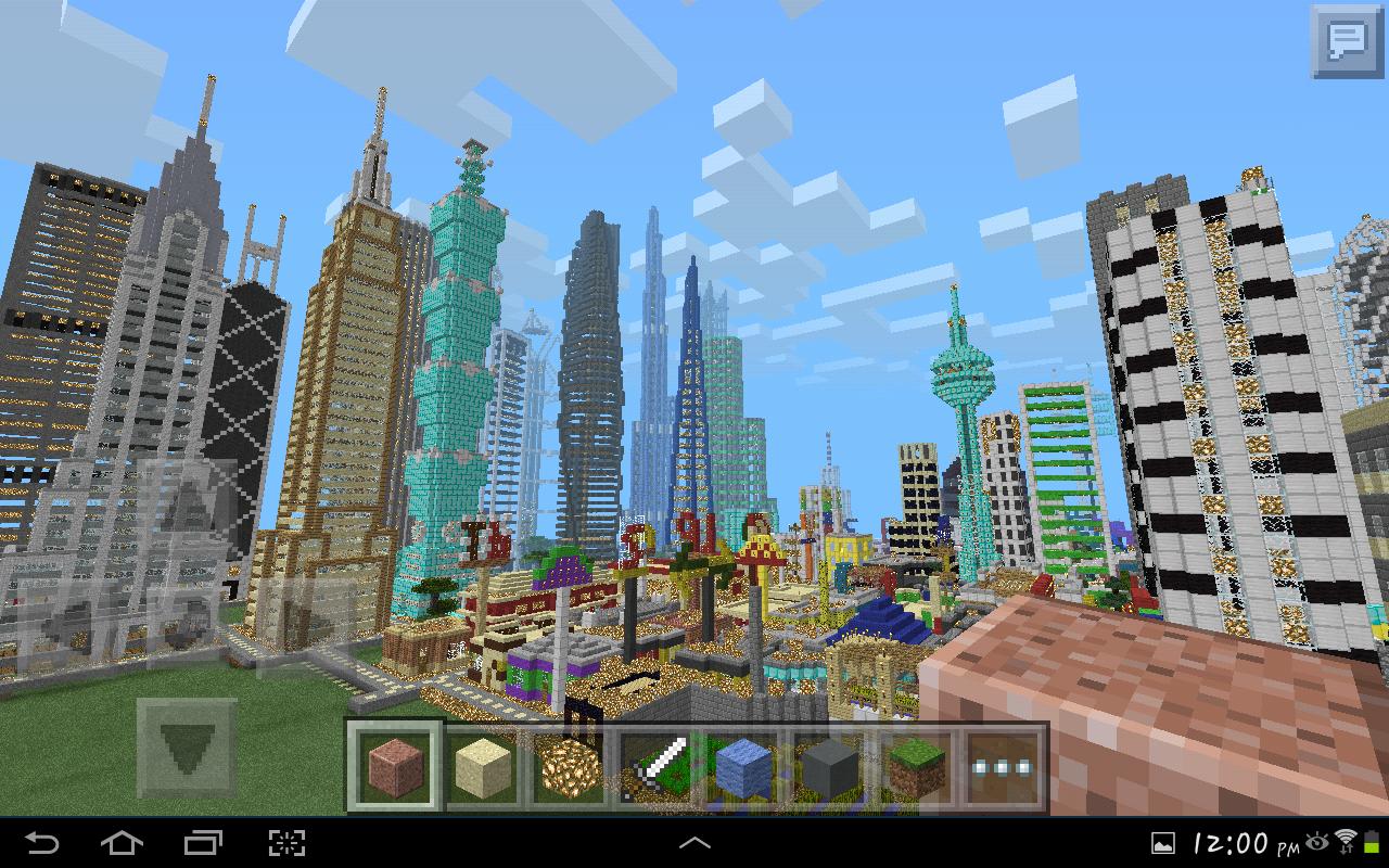 скачать карту город для майнкрафт пе 0.13.0 #1