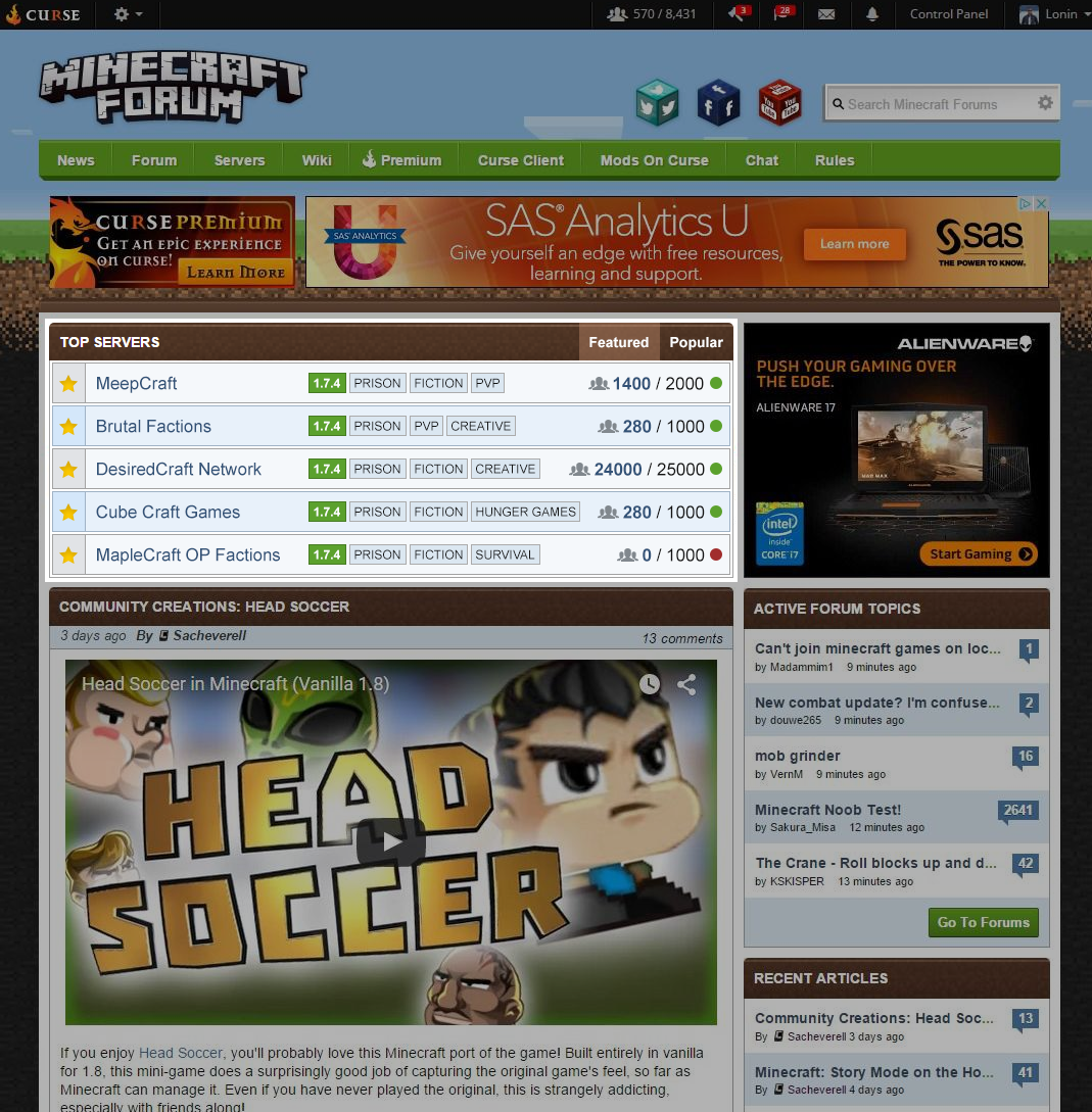 It's easy to set up the Minecraft launcher with profiles for different  versions. Here I