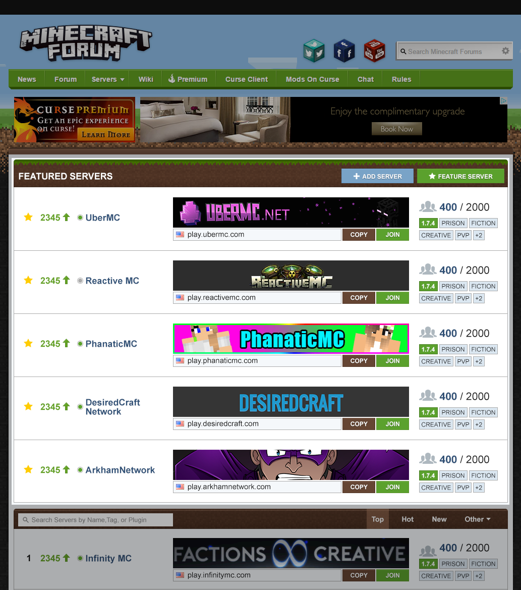 What Is The Minecraft Forum Server List?  Curse Media. Ios App Design Template. Roblox T Shirt Template. Personalized Learning Plans Template. Funeral Program Template Word. Create Google Drive Invoice Template. Cd Case Label Template. Free Stock Certificate Template. Basketball Practice Plans Template