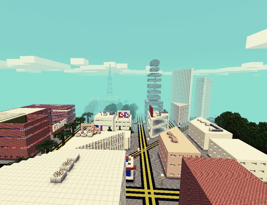 скачать карту имперский город для майнкрафт pe #7