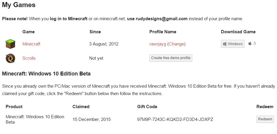 [WINNER ANNOUNCED] Minecraft Windows 10 Edition Gift Code ...