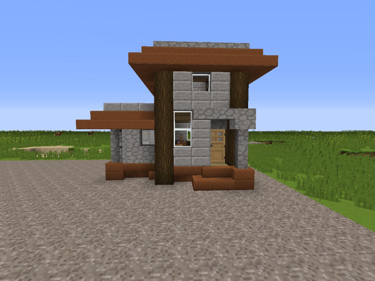 8x8 Plot Tiny House Creative Mode Minecraft Java