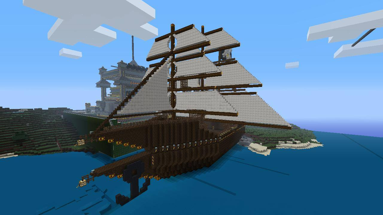 how to build a pirate ship on minecraft