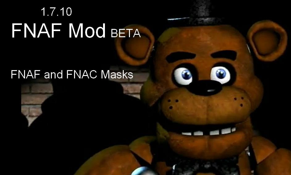 Fnaf mod beta 1 7 10 minecraft mods mapping and modding