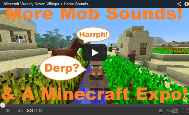 Minecraft weekly news villager horse sounds minecraft expo minecraft weekly news villager horse sounds minecraft expo xbla progress sciox Images
