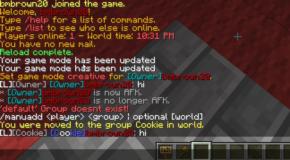 Minecraft Essentials Build Permissions
