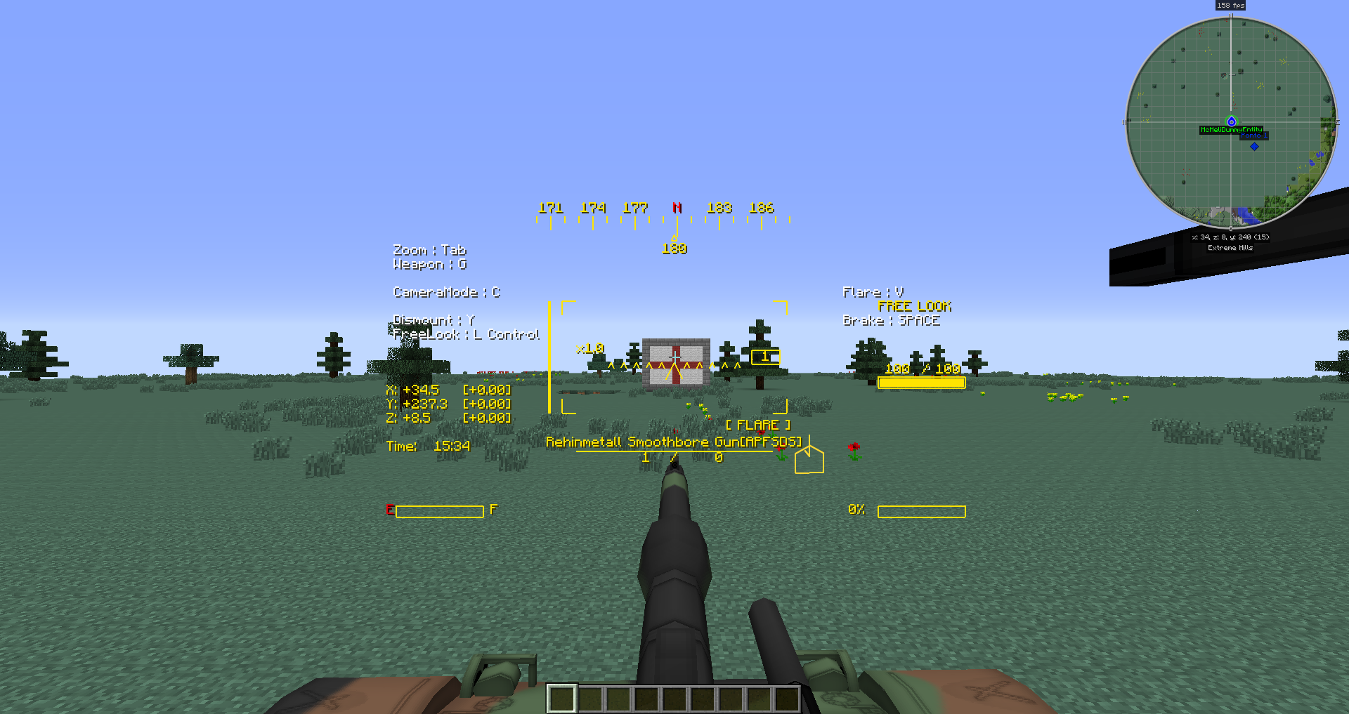 Minecraft 1 7 10 helicopter
