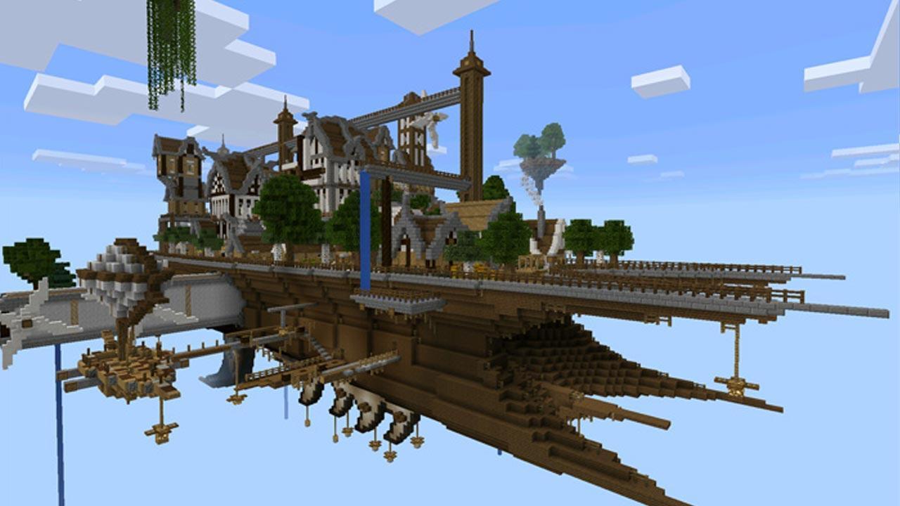 fantasy airship minecraft wwwimgkidcom the image kid