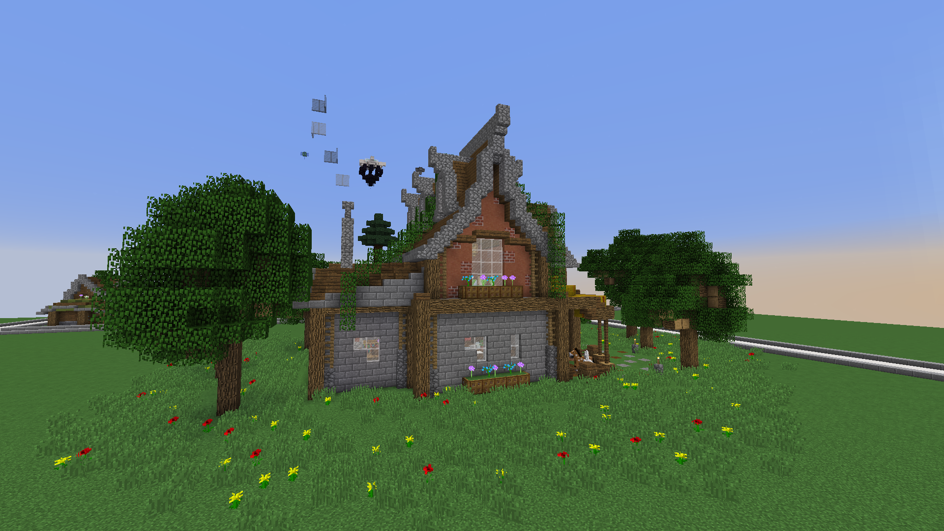 how to build roofs in minecraft grian