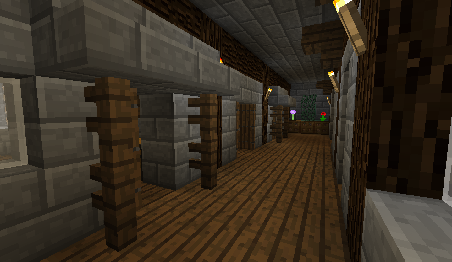 Hallway and general room designs creative mode for Minecraft foyer ideas