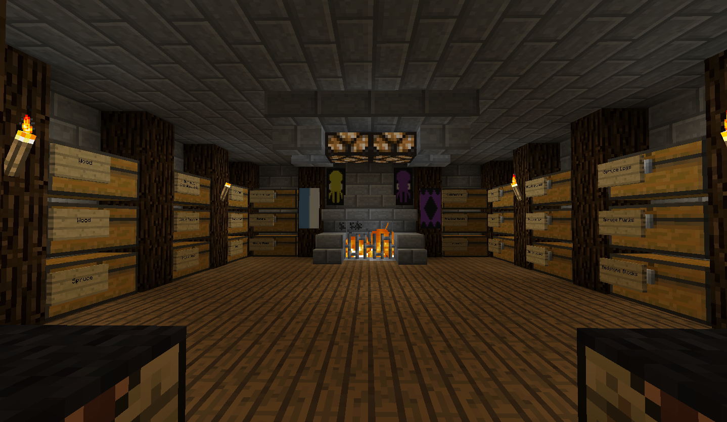 Hallway And General Room Designs Creative Mode