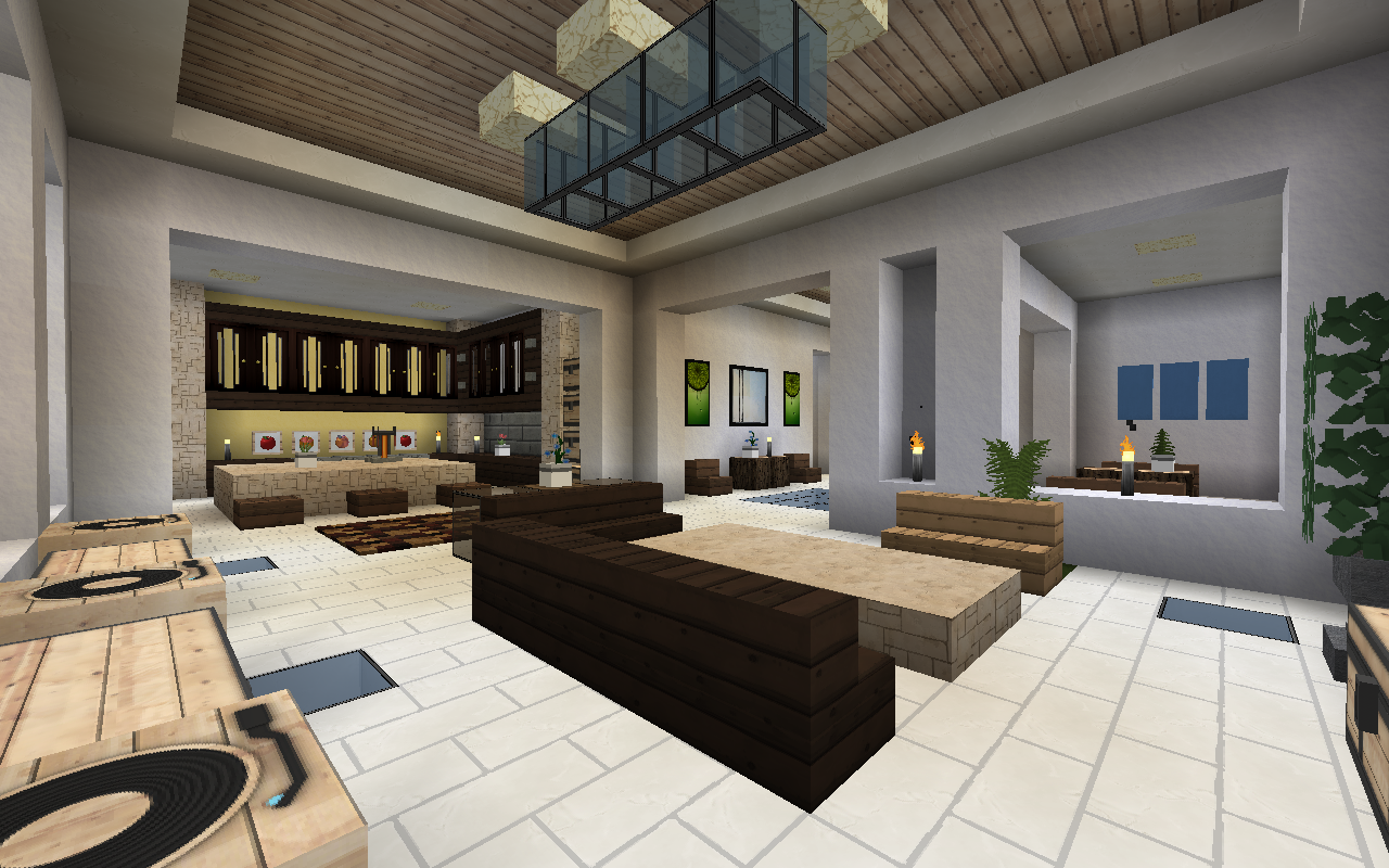 Do you want your dream home modern intricate homes can - How to make a nice living room in minecraft ...