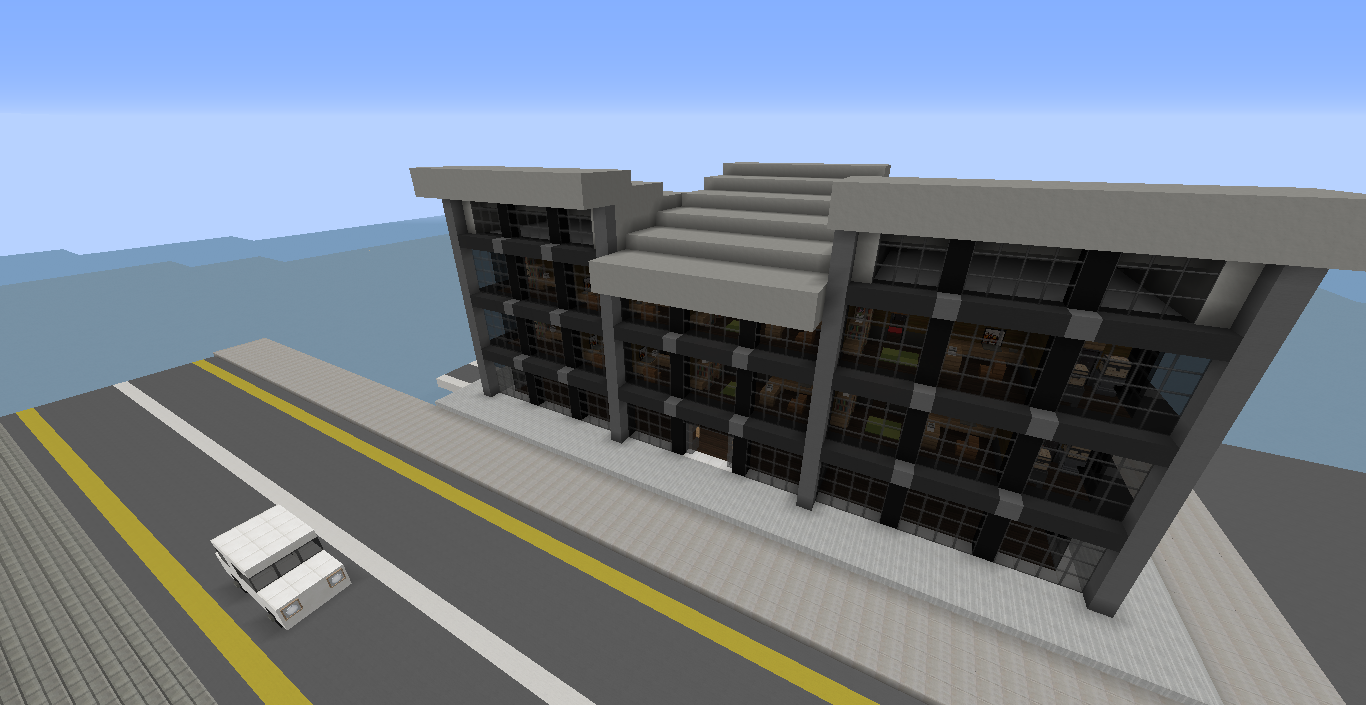 how to make a modern office building in minecraft