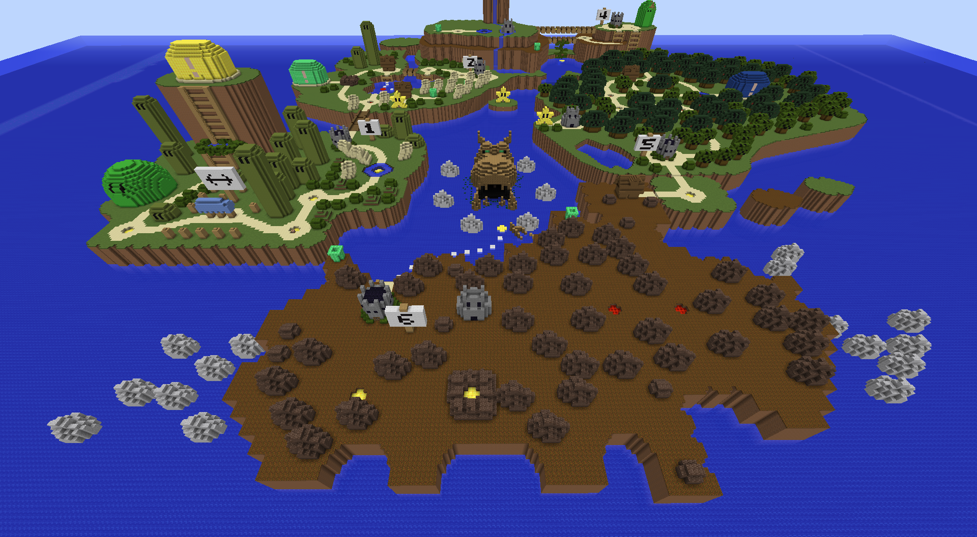 Super Mario World In Minecraft Smw Maps Mapping And