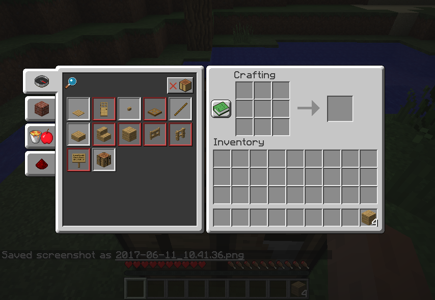 how to open recipe book in minecraft