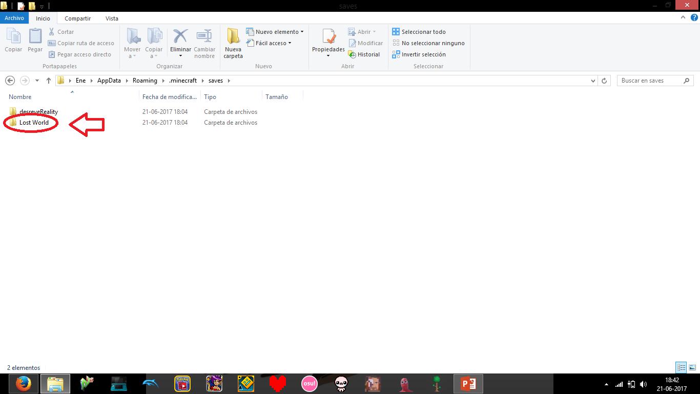 how to change minecraft world folder