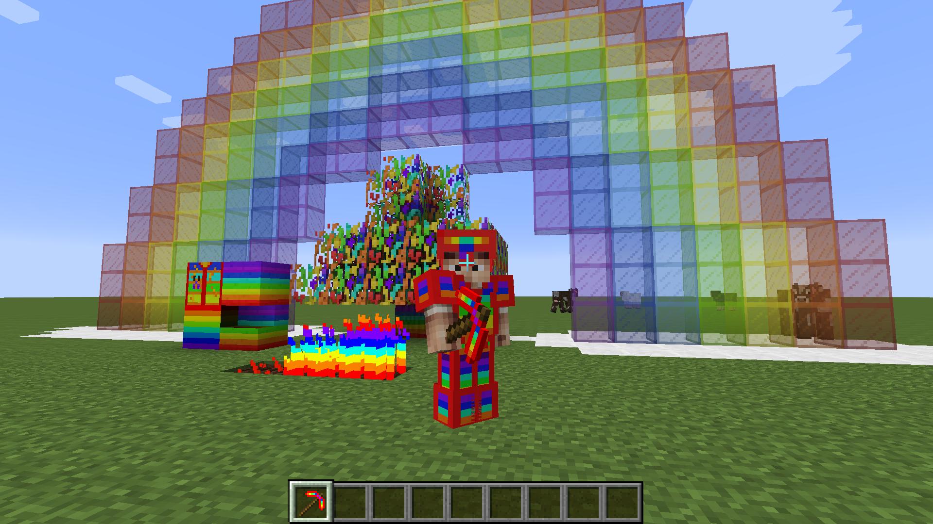 Как сделать цветное стекло в майн