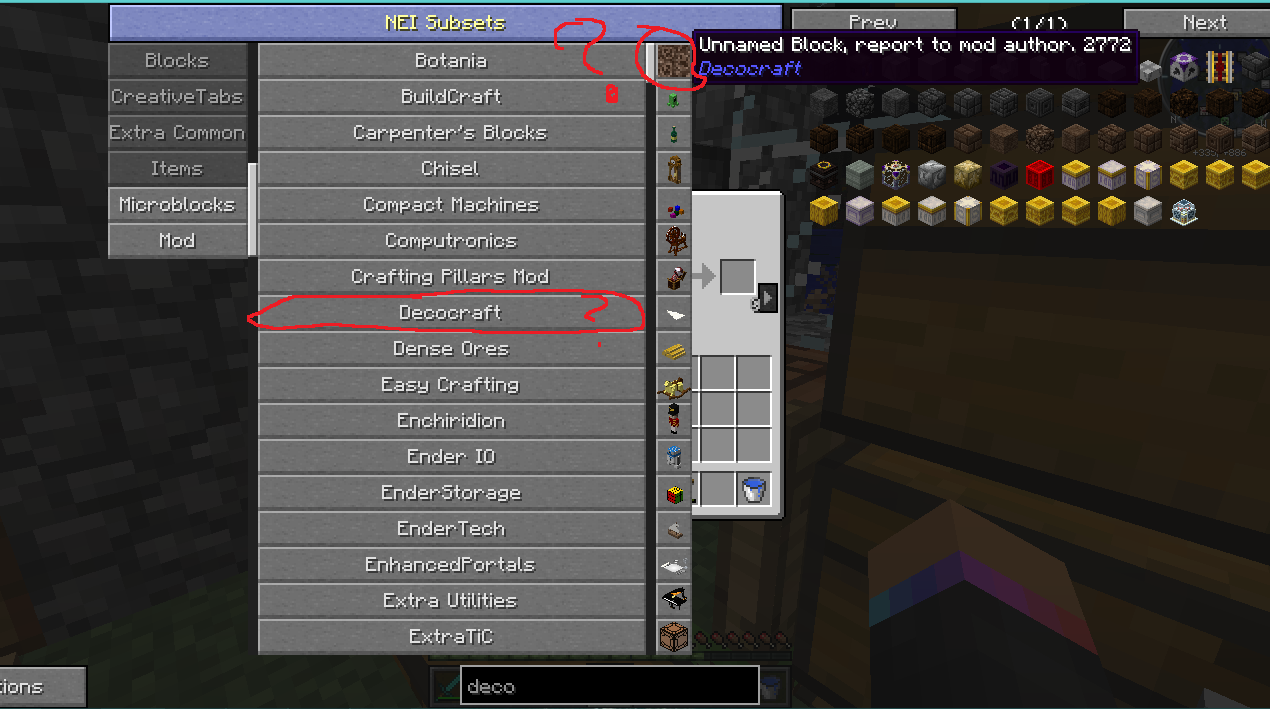 how to get a deco bench in minecraft