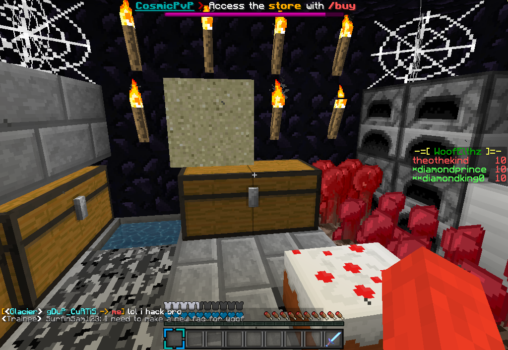 Cosmicpvp factions pvp lottery pc servers servers