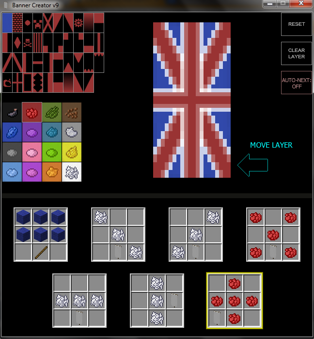 [1.8 Snapshot] War Banner Creator - Minecraft Tools