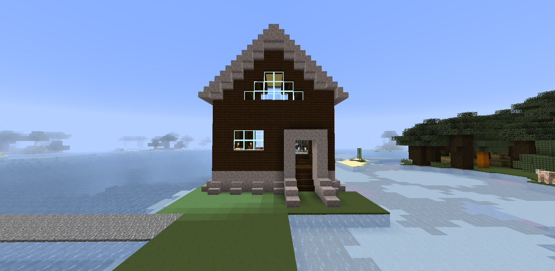 Minecraft houses creative mode harbor master house creative mode