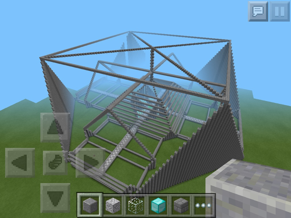 Minecraft pe fortress build creative mode minecraft for Fortress build