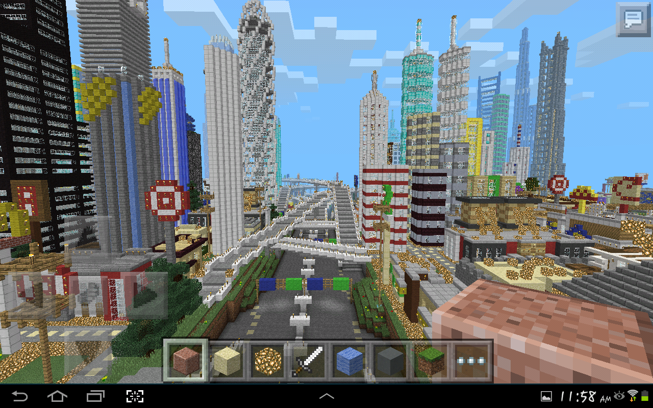 MINECRAFT PE GIGANTIC CITY [The Biggest City In Pocket Edition ...
