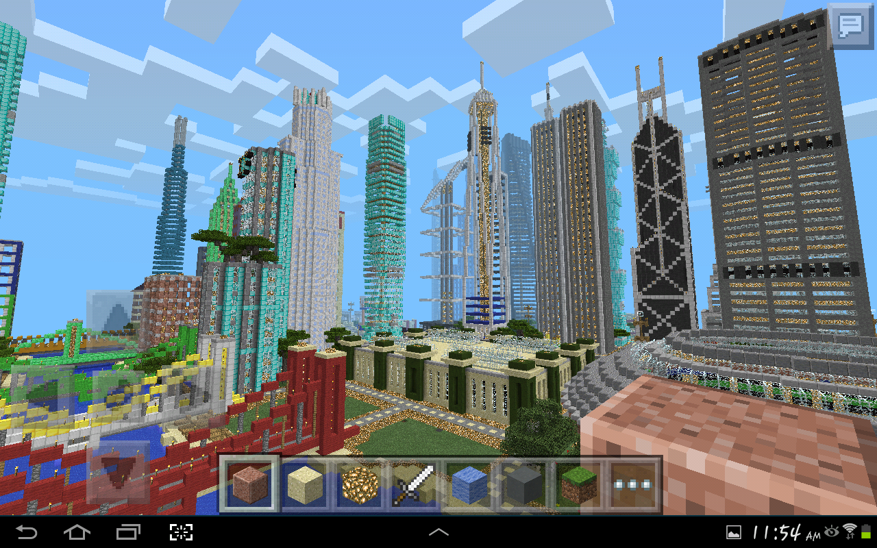 Minecraft pe my Gigantic City