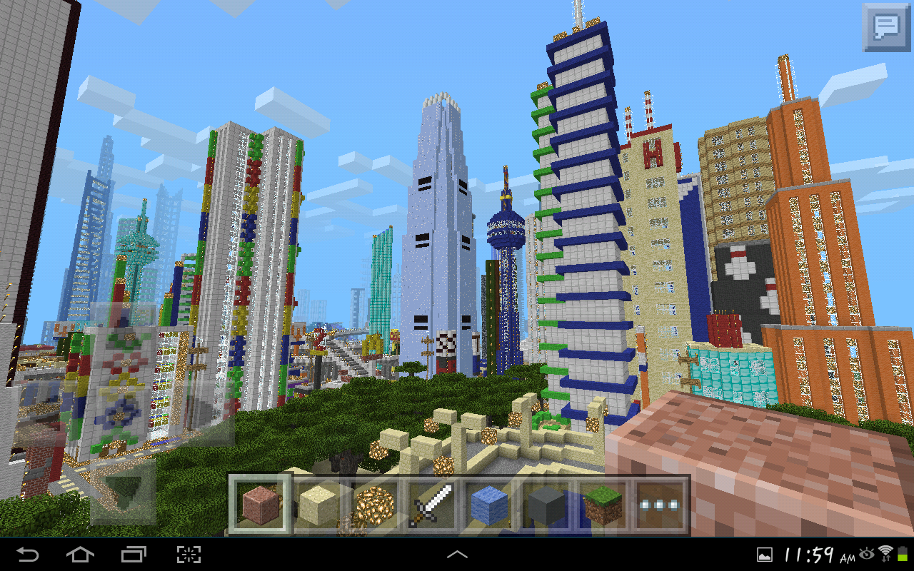 MINECRAFT PE GIGANTIC CITY The Biggest City In Pocket Edition - Nyc map minecraft
