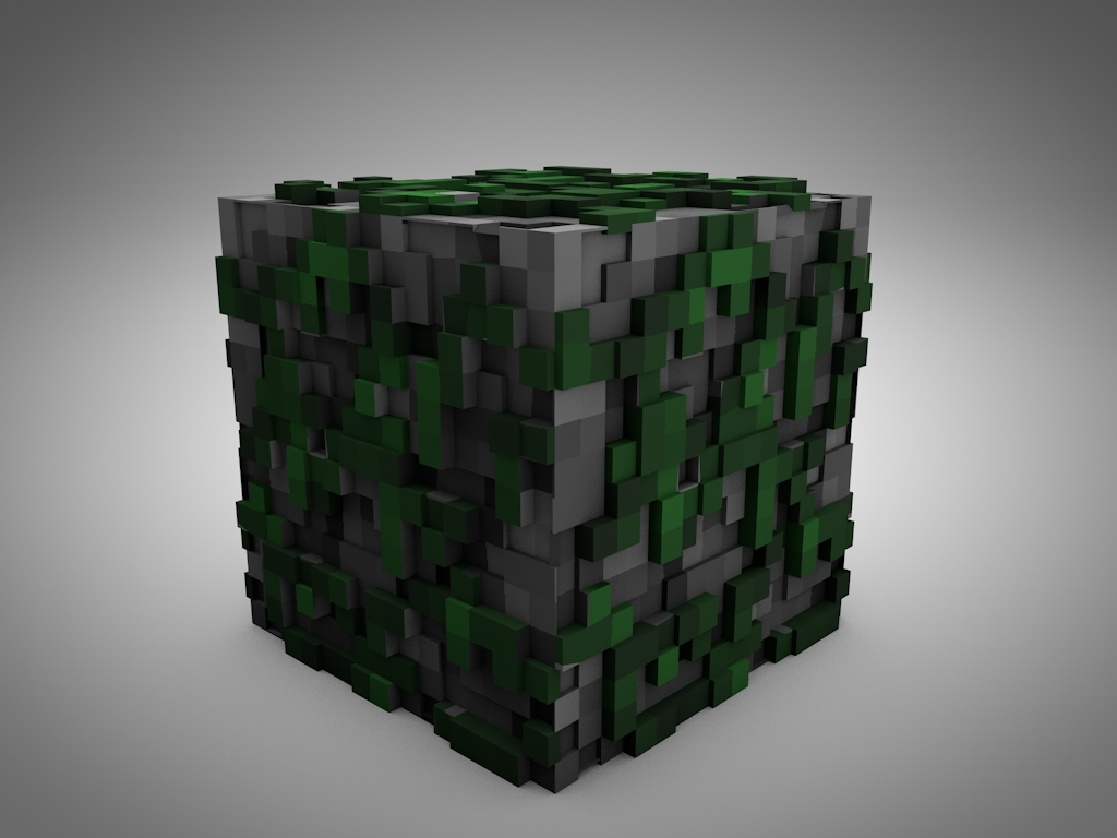 Minecraft Cobblestone Block : Minecraft extruded model pack v other fan art