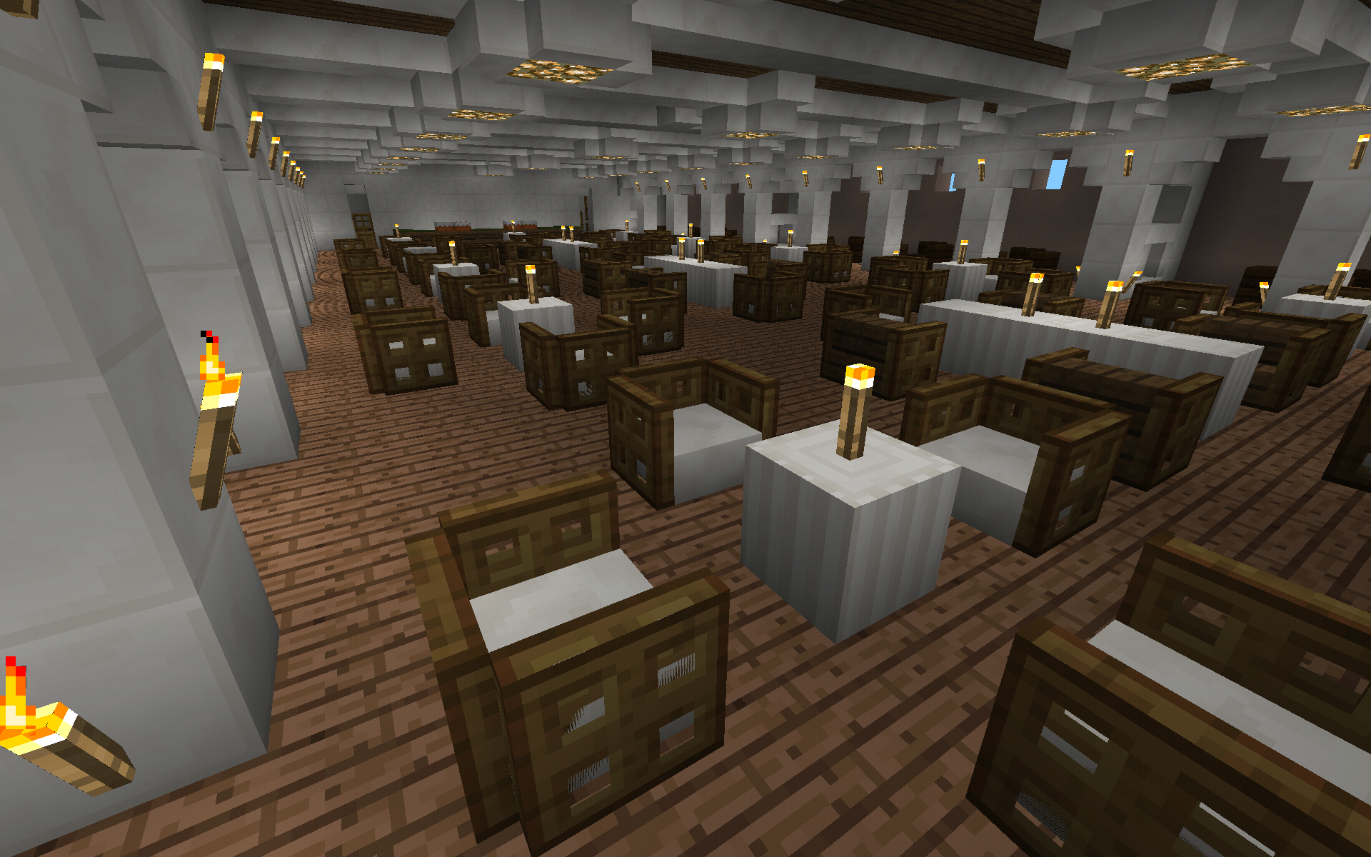 To scale replica of the rms titanic for minecraft pe for Minecraft dining room designs