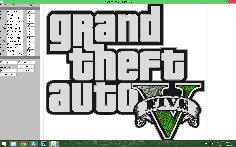 gta v logo pixel art