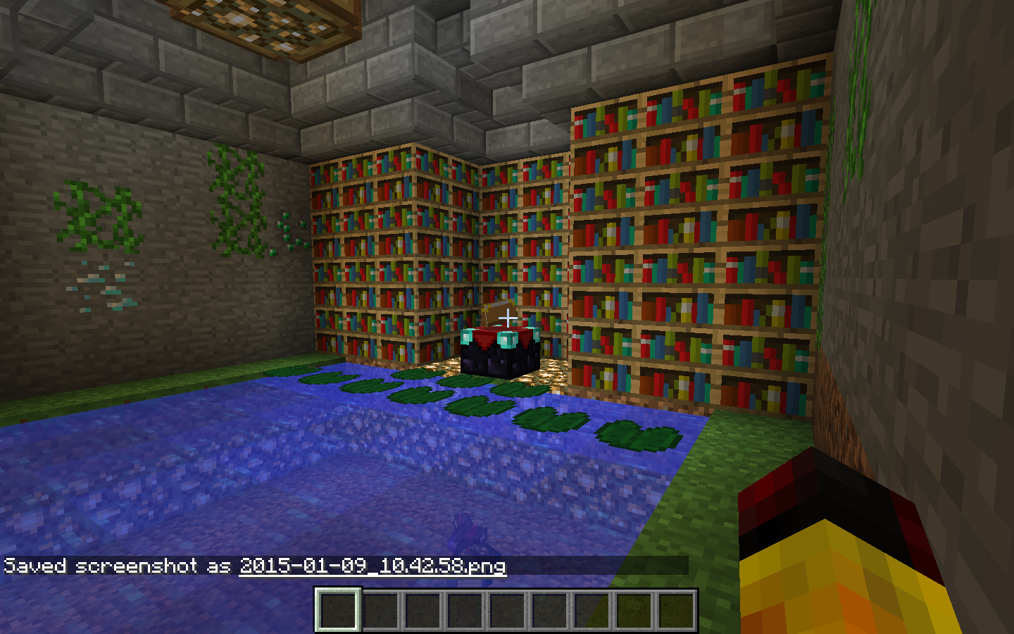 Marvelous photograph of Enchanting room Creative Mode Minecraft Discussion Minecraft  with #68371C color and 1440x900 pixels